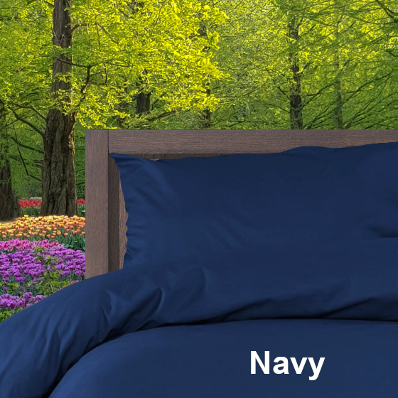 Dekbedovertrek Double Face effen Navy Alpa