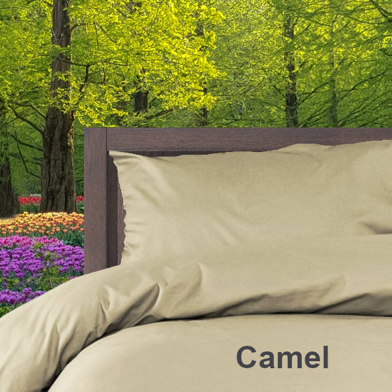 Dekbedovertrek Double Face effen Camel Alpa
