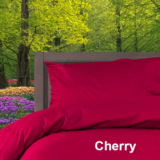 Dekbedovertrek Double Face effen Cherry Alpa