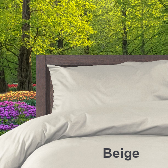 Dekbedovertrek Double Face effen Beige Alpa
